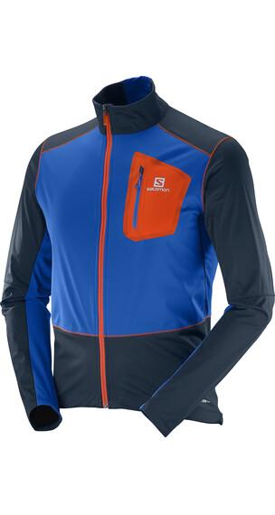 Salomon M's Equipe Softshell Jacket Big Blue-X/Blue Yonder/Vivid Orange